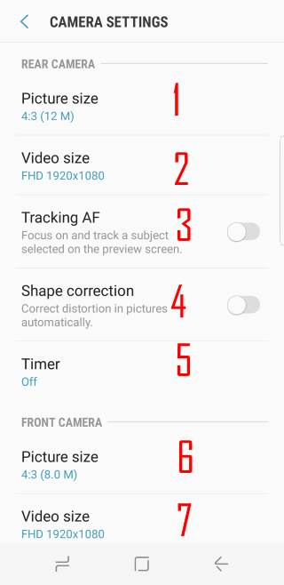 Galaxy S8 camera settings explained