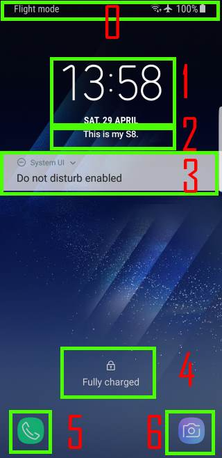 use and customize Galaxy S8 lock screen