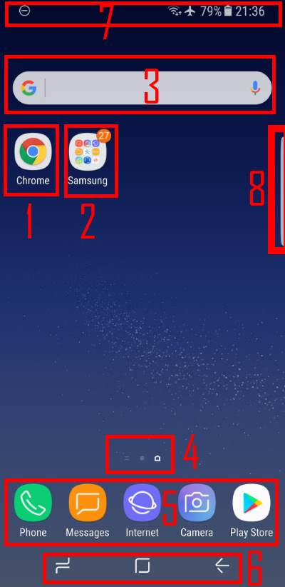use and customize Galaxy S8 Home screen