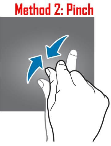 use Galaxy S8 Home screen edit mode: method 2 pinch