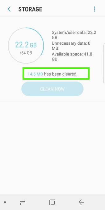 usedevice maintenance to free up storage inGalaxy S8 and S8+