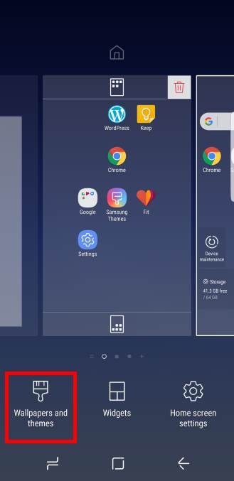 get new Galaxy S8 themes for Galaxy S8 and S8+