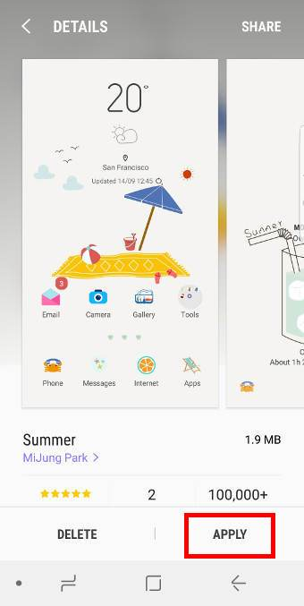 use Galaxy S8 themes for Galaxy S8 and S8+