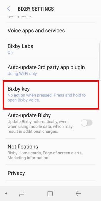 disable Bixby button for Bixby voice assistant (long press)