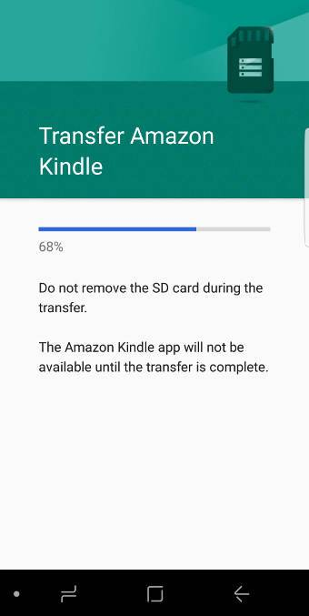 move apps to SD card in Galaxy S8 and S8+?