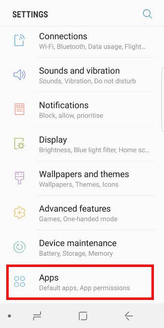 move apps to SD card in Galaxy S8 and S8+