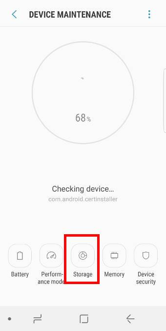check and manage SD card in Galaxy S8 and S8+