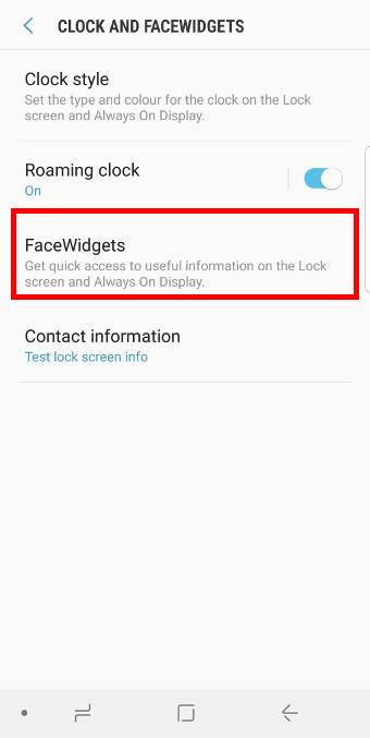 customize facewidgets inGalaxy S9 lock screen