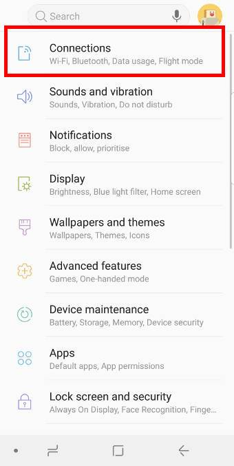 galaxy s9 sim card guides: change mobile network settings inGalaxy S9 and S9+