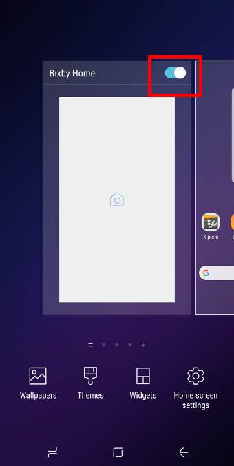 remove Bixby Home from Galaxy S9 Home screen
