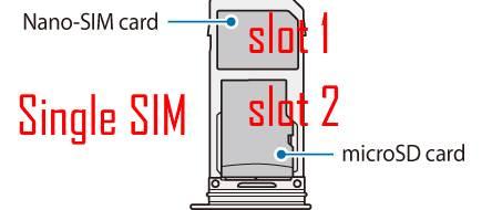 use slot 2 of GalaxyS9 SIM card tray
