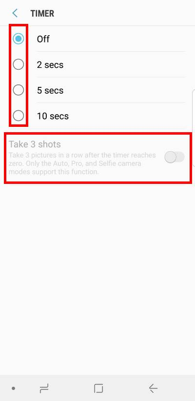 Understand and use Galaxy S9 camera settings