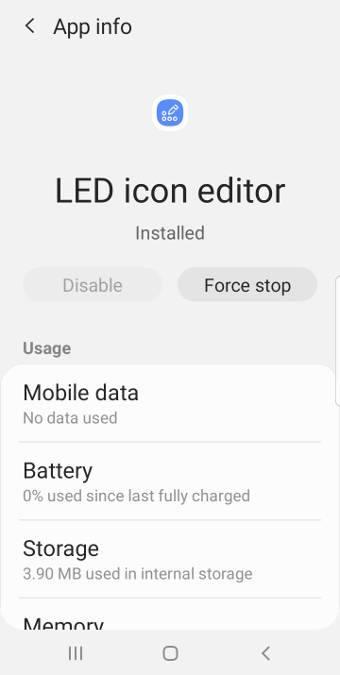 LED icon editor app info