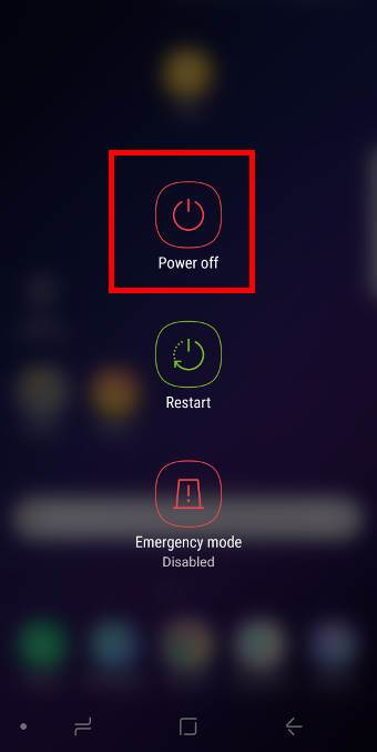 reboot into Galaxy S9 safe mode