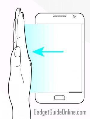 use palm swipetotake screenshots on Galaxy S9 and S9+