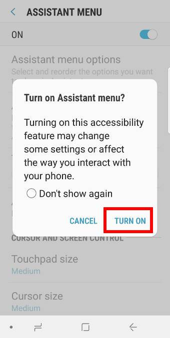 using the Assistant menu to take screenshotson Galaxy S9 and S9+