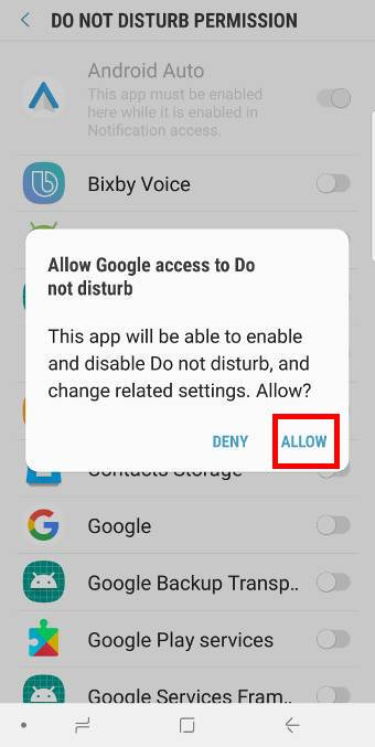 app rules inDo Not Disturb on Galaxy S9 and S9+