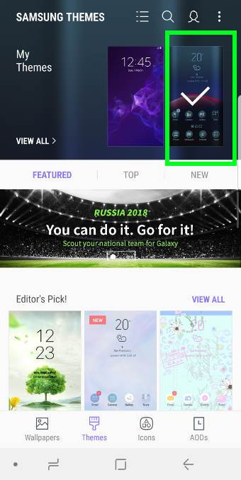 manage and deleteGalaxy S9 themes