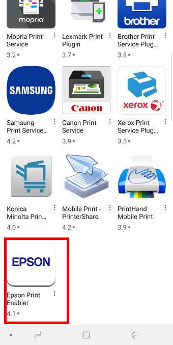Steps of setting up wireless printing on Galaxy S9 and S9+