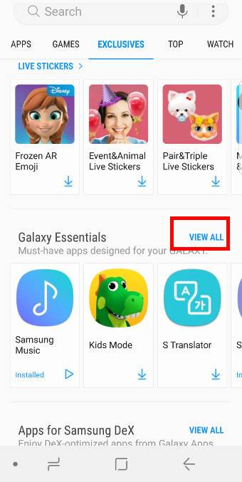 show photos on Galaxy S9 Home screenStep 1: Install Picture Frame from Samsung Galaxy Apps