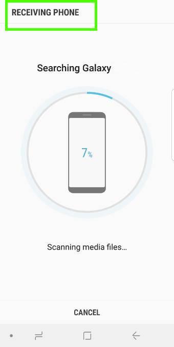 prepare, transfer and restore data to Galaxy S9