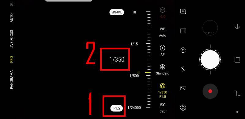 use dual aperture to manually chooseGalaxy S9 camera aperture