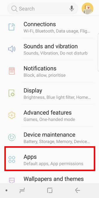 Galaxy S9 Settings