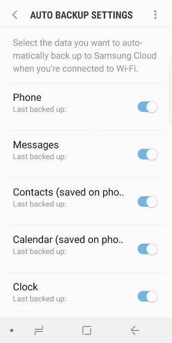use Samsung Cloud to back upGalaxy S9 and S9+
