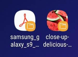 pin files to Galaxy S9 Home screen (add file shortcuts to Galaxy S9 Home screen)