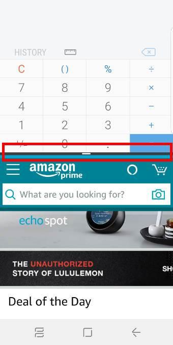 resize app window in the split-screen view
