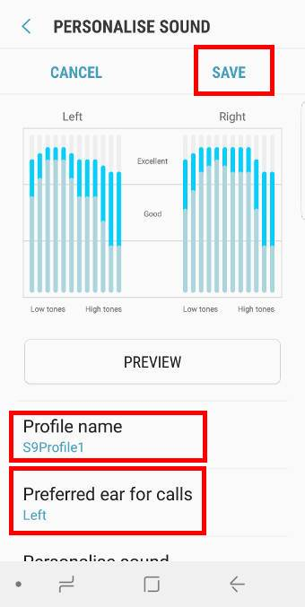 review the profile