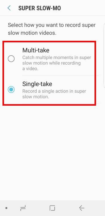 super slow-mo settings