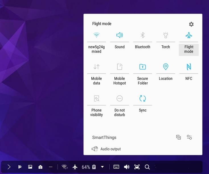 How to use the notification bar in Samsung Dex with Galaxy S9 and S9+?