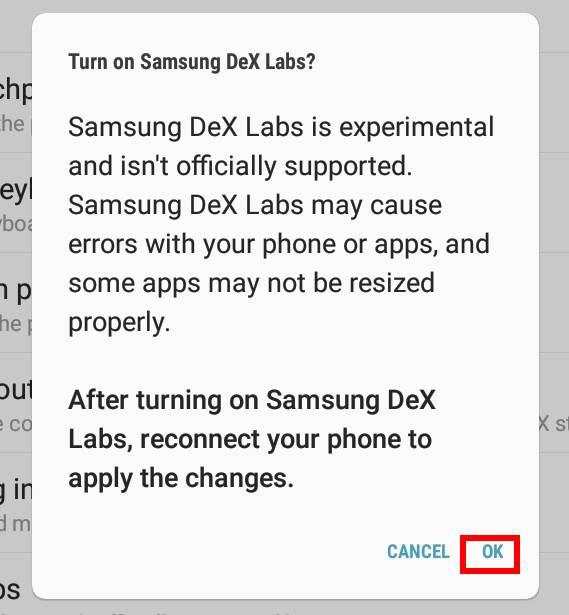 use Samsung Dex Settings