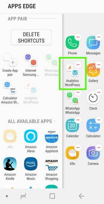 Manually creating an app pair inthe apps edge