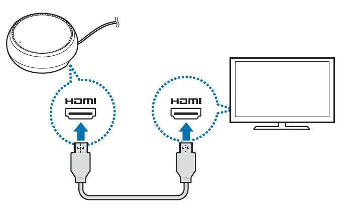 Connect DeX Pad to a monitor with the HDMI cable
