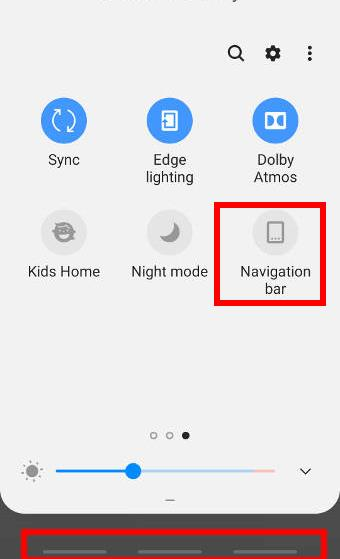use the navigation bar button to turn on and turn off navigation gestures on Galaxy S9 and S9+ with Android Pie update