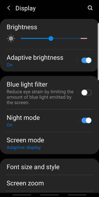 enable and usethe night mode on Galaxy S9 and S9+ with Android Pie update