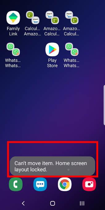 lock Galaxy S9 home screen layout on Galaxy S9 and S9+ with Android Pie update