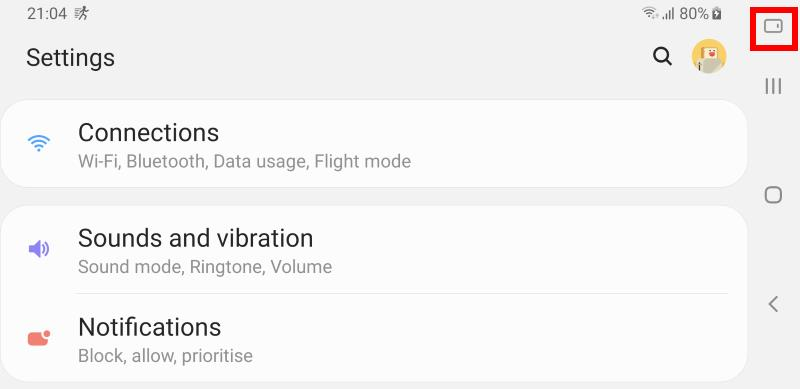 usethe rotation toggle to change and lock screen orientation in Android Pie update for Galaxy S9 and S9+